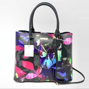 Trina Turk | NEW Black Pink Blue Floral Purse